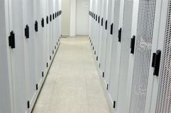 шкафы залы оборудования Стоковое Изображение