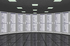 Шкафы комнаты сервера Стоковое Фото