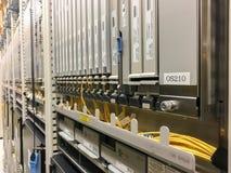 Шкафы сетевого оборудования Стоковая Фотография RF