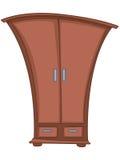 шкаф дома мебели шаржа иллюстрация вектора
