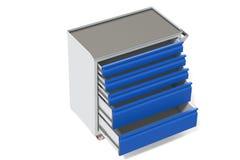 Шкаф инструмента металла на колесах с ящиками Удобное место для хранить инструменты и запасные части Мебель металла 3D-model пред бесплатная иллюстрация