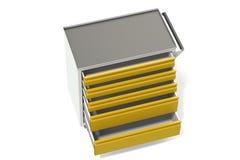 Шкаф инструмента металла на колесах с ящиками Удобное место для хранить инструменты и запасные части Мебель металла 3D-model пред иллюстрация штока