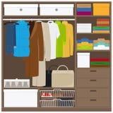 Шкаф одежды людей Стоковая Фотография