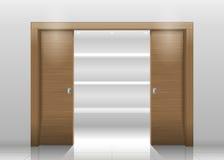 Шкаф раздвижной двери Стоковые Фотографии RF