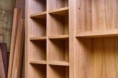 Шкаф сделанный из облицовки MDF и дуба Детализирует деревянную продукцию Стоковые Фотографии RF