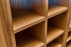 Шкаф сделанный из облицовки MDF и дуба Детализирует деревянную продукцию Стоковое Фото
