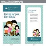 шкаф семьи карточки брошюры 4x9 Стоковое Фото