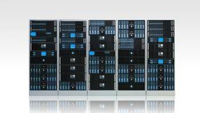 Шкаф сервера компьютера Стоковые Фотографии RF