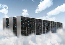 Шкаф сервера облака интернета стоковое изображение