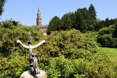 Шкала в саде дворца, weinheim Солнця Стоковое Фото