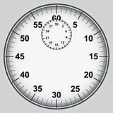 Шкала секундомера с номерами  иллюстрация вектора