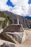 Шкала Солнця в Machu Pichu Стоковое Изображение RF
