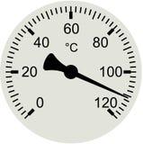 Шкала термометра - иллюстрация вектора Стоковая Фотография