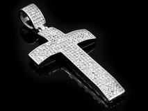 Шкентель драгоценности Крест ожерелья Нержавеющая сталь стоковое фото