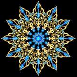 шкентель фибулы с и драгоценные камни Филигранные викторианские ювелирные изделия вектор изображения иллюстрации элемента констру иллюстрация штока