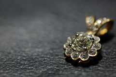 Шкентель диаманта на коже Стоковое Изображение RF