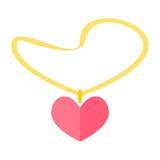 Шкентель сердца ювелирных изделий иллюстрация штока