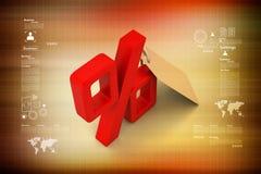 Шкентель с знаком процентов Стоковое Изображение RF