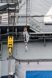 Шкивы на корабле войск стоковые изображения rf