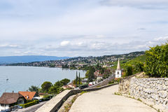Шкив, озеро Женевы (Швейцария) Стоковое Изображение