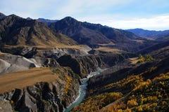 Шкиперы Canyon Road, Queenstown, Новая Зеландия Стоковые Изображения RF