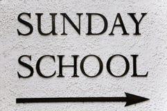 школа воскресенье Стоковое Изображение