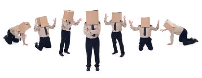 школа головки принципиальной схемы бизнесмена дела коробки Стоковая Фотография RF