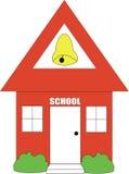 школа дома Стоковое Изображение