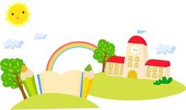 Школа и книга Стоковая Фотография RF
