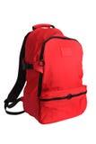 школа красного цвета backpack Стоковое Изображение RF