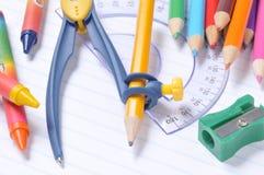 школа оборудования Стоковая Фотография
