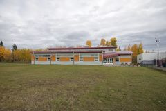 Школа реки сена стоковое изображение