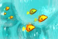 школа рыб бесплатная иллюстрация