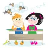 школа стола иллюстрация вектора