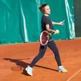 Школа тенниса внешняя Стоковая Фотография