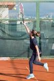 Школа тенниса внешняя Стоковое Изображение