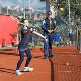 Школа тенниса внешняя Стоковое Фото