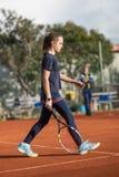Школа тенниса внешняя Стоковое Изображение RF