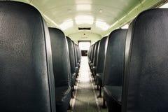 школа шины нутряная старая Стоковая Фотография