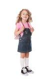 школа девушки счастливая Стоковое Изображение RF