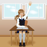школа девушки Стоковые Изображения RF