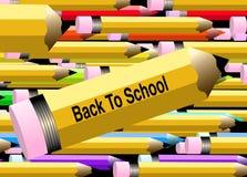 школа 2 задняя карандашей к Стоковые Фотографии RF