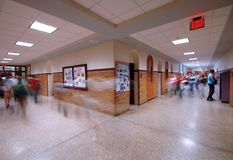 школа 4 прихожих Стоковая Фотография