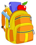 школа backpack Стоковые Фотографии RF