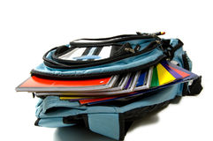 школа backpack Стоковое Изображение