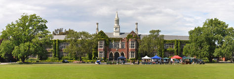 школа zealand панорамы christchurch мальчиков высокая новая Стоковые Фото