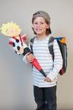 школьник школы дня первый стоковое изображение