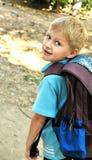 школьник backpack Стоковые Изображения RF