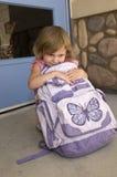 школьница backpack Стоковые Изображения