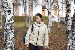 школьница backpack Стоковые Фотографии RF